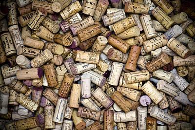 Cork Photograph - Fine Wine Corks by Frank Tschakert