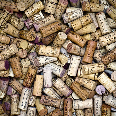 Wine Royalty-Free and Rights-Managed Images - Fine Wine Corks Square by Frank Tschakert