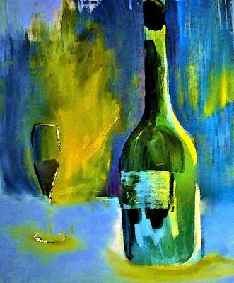 Blue Painting - Fine Wine Glow by Lisa Kaiser