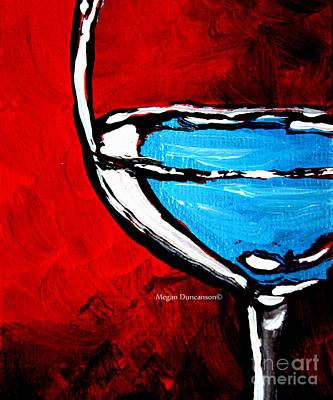 Wine Painting - Fine Wine II Beautiful Pop Art Style Original Wine Painting By Megan Duncanson by Megan Duncanson