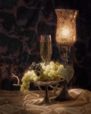 Wine Grapes Photograph - Fine Wine Still Life by Tom Mc Nemar