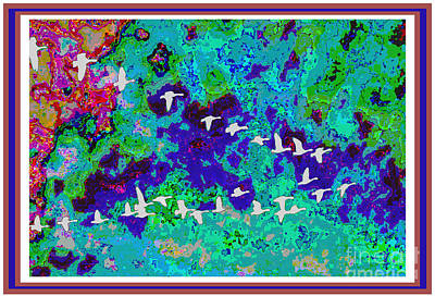 Fineart Birds Of Paradise Creation By Navinjoshi At Fineartamerica.com Signature Selection Emporium Original by Navin Joshi
