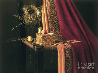 Antique Look Painting - Finely Woven by Barbara Groff