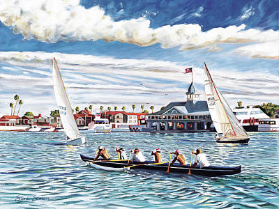 Outrigger Painting - Finesse And Brawn by Steve Simon