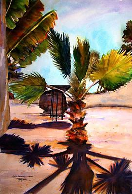 Art Print featuring the painting Finesterra by Marti Green
