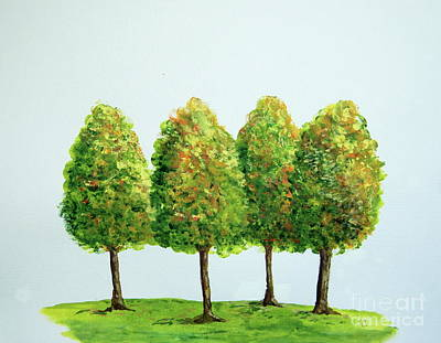 Painting - Finger Forest by Tamyra Crossley
