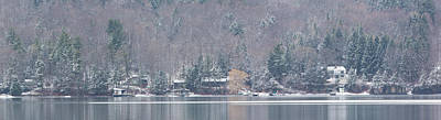 Finger Lakes Winter Panorama Art Print by Michele Steffey