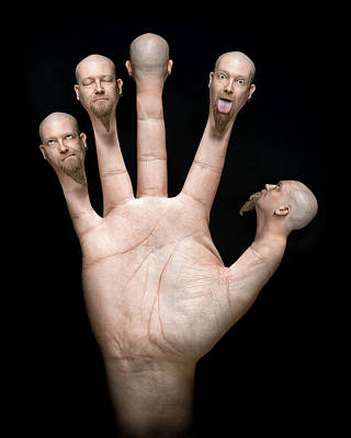 Hands Wall Art - Photograph - Finger Puppets by Petri Damsten
