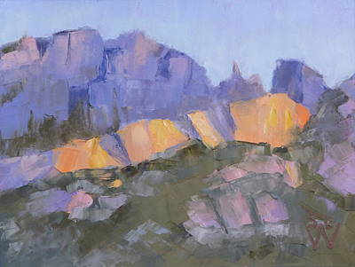 Painting - Finger Rock by Susan Woodward