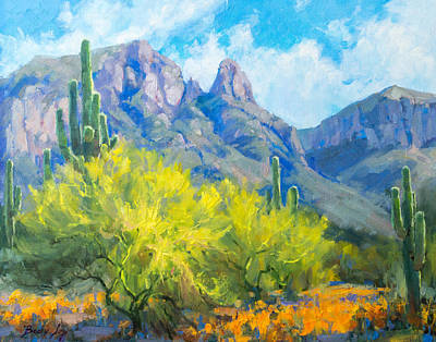 Becky Painting - Finger Rock Tucson Az by Becky Joy