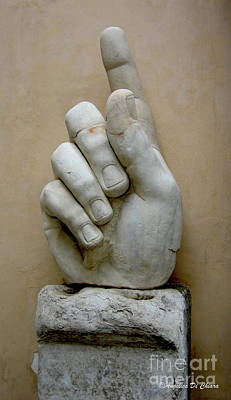 Photograph - Finger -rome by Italian Art