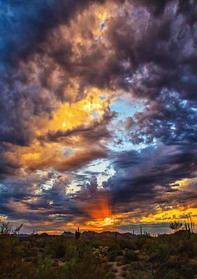 Finger Painted Sunset Art Print by Rick Furmanek