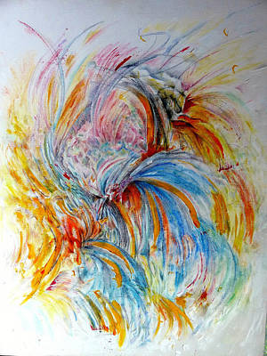 Fingerpainting Art Print