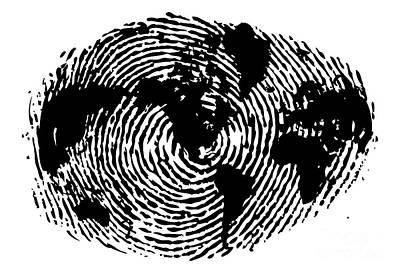 Black And White Art Wall Art - Painting - fingerprint 20X30 by Sassan Filsoof