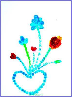 Bonding Painting - Fingerprint Heart by Sonali Gangane