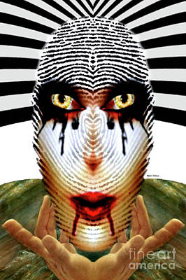Digital Art - Fingerprint Mask by Rafael Salazar