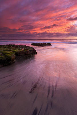 Stained Photograph - Fingers Of The Tide by Mike  Dawson