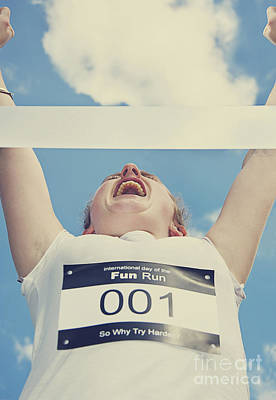 Jogging Photograph - Finish Line Frontrunner by Jorgo Photography - Wall Art Gallery