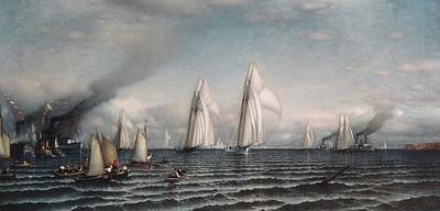 Finishfirst International Race For America's Cup August 8 1870 Original by Samuel Colman