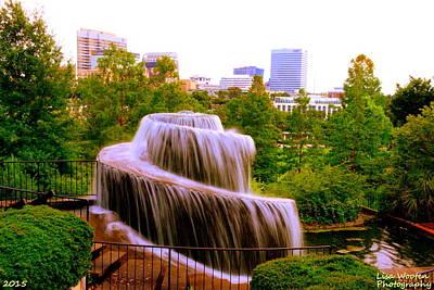 Photograph - Finlay Park Fountain Summertime by Lisa Wooten