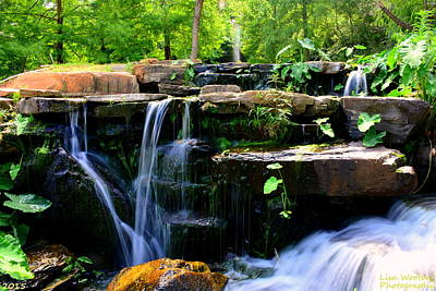 Photograph - Finlay Park Waterfall Summertime by Lisa Wooten