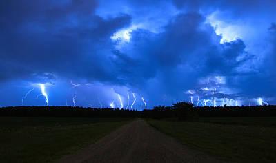 Dirt Roads Photograph - Finn Line Lightning by Cale Best