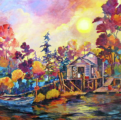 Painting - Finn Slough Once More by Bonny Roberts