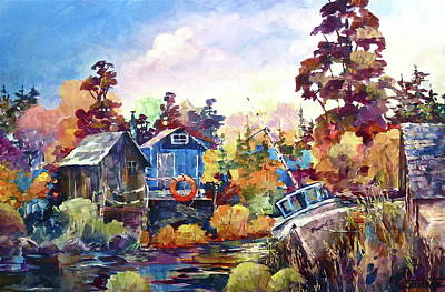Painting - Finn Slough Revisited by Bonny Roberts