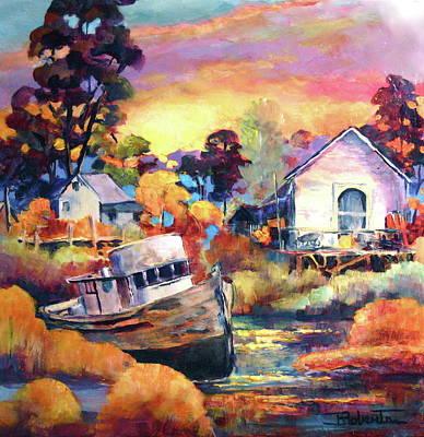 Painting - Finn Slough I, Richmond by Bonny Roberts