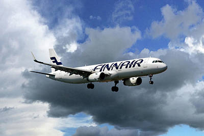 Airliners Photograph - Finnair Airbus A321-231 by Nichola Denny