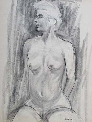 Drawing - Icelandic Blonde In Profile by Robert Holden