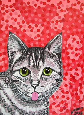 Moggy Painting - Finnish Cat by Alan Hogan
