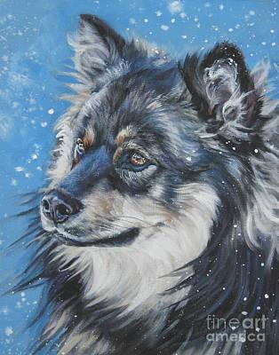 Finnish Lapphund Art Print by Lee Ann Shepard