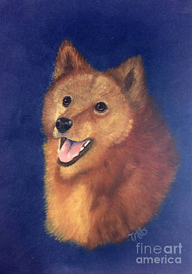 Painting - Finnish Spitz by Terri Mills