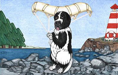 Finny's First  Flight Art Print by Jenn Schmidt