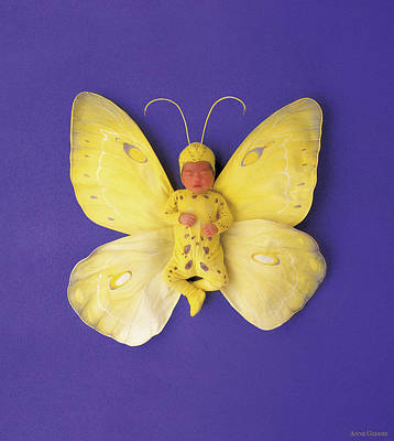 Fiona Butterfly Art Print by Anne Geddes
