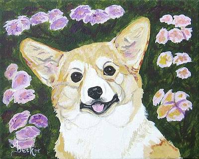 Painting - Fiona The Welsh Corgi by Ann Becker