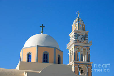 Fira Catholic Cathedral Horizontal Art Print