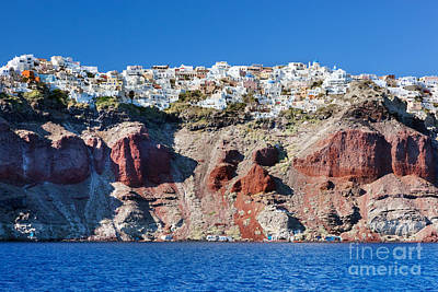 Mediterranean Photograph - Fira The Capital Of Santorini Island by Michal Bednarek