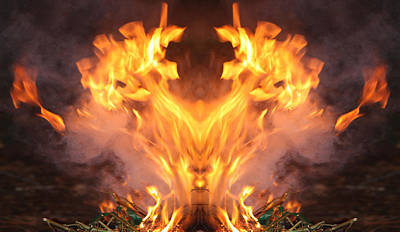 Photograph - Fire 99 by Alma