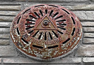 Photograph - Fire Alarm Cover  by Ethna Gillespie