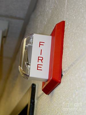 James Madison University Photograph - Fire Alarm Horn/strobe by Ben Schumin
