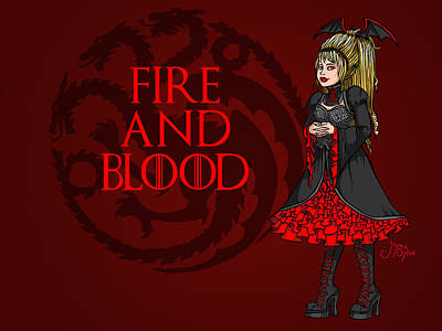 Digital Art - Fire And Blood by Jaymie Dylan
