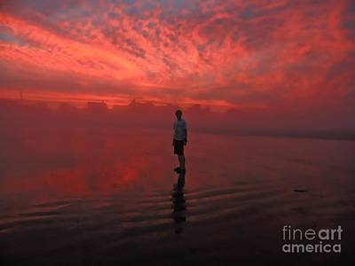 Photograph - Fire And Fog by Marcia Lee Jones