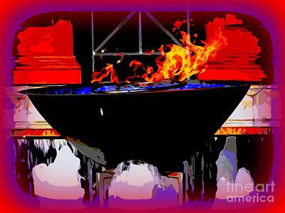 Digital Art - Fire And Fountains by Ed Weidman