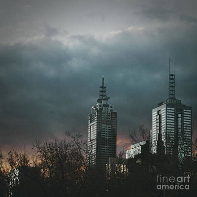 Grey Clouds Photograph - Fire And Ice by Andrew Paranavitana