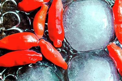 Photograph - Fire And Ice by Brett Christensen