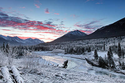 Alaska Mountains Photograph - Fire And Ice by Ed Boudreau