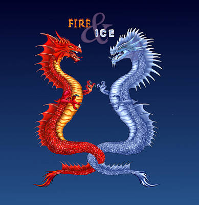 Digital Art - Fire And Ice  by Glenn Holbrook