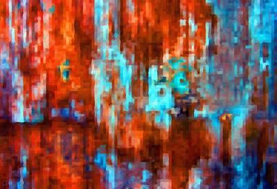 Digital Abstract Digital Art - Fire And Ice by Katrina Britt